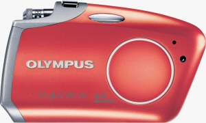 Olympus' Stylus Verve digital camera. Courtesy of Olympus, with modifications by Michael R. Tomkins. Click for a bigger picture!