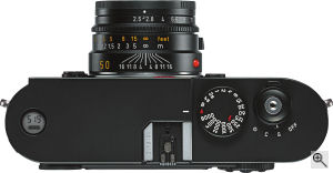 Leica's Summarit-M 50mm f2.5 lens. Courtesy of Leica, with modifications by Michael R. Tomkins. Click for a bigger picture!