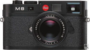 Leica's Summarit-M 75mm f2.5 lens. Courtesy of Leica, with modifications by Michael R. Tomkins. Click for a bigger picture!