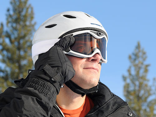 The Summit-series Snow Camera Goggle in use. Photo provided by Liquid Image Co. LLC. Click for a bigger picture!