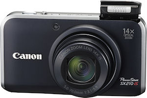 Canon's PowerShot SX210IS digital camera. Photo provided by Canon. Click for a bigger picture!