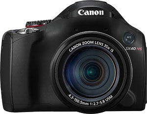 Canon's PowerShot SX40 HS digital camera. Photo provided by Canon USA Inc. Click for a bigger picture!