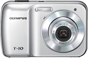 Olympus' T-10 digital camera. Photo provided by Olympus Imaging Corp.