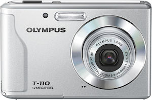 Olympus' T-110 digital camera. Photo provided by Olympus Imaging Corp.