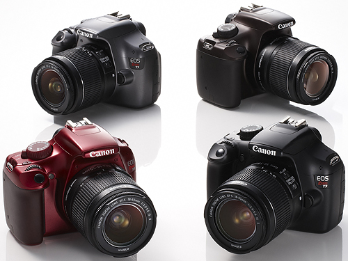 Canon's EOS Rebel T3 is now available in four colors when purchased directly from the company's online store. Photo provided by Canon USA Inc. Click for a bigger picture!