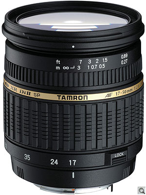 Tamron SP AF17-50mm F/2.8 XR Di II. Courtesy of Tamron, with modifications by Zig Weidelich. Click here for a bigger picture!