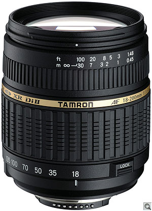 Tamron AF18-200mm F/3.5-6.3 XR Di II. Courtesy of Tamron, with modifications by Zig Weidelich. Click here for a bigger picture!