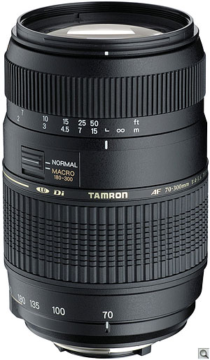 Tamron 70-300mm F/4-5.6 Di. Courtesy of Tamron, with modifications by Zig Weidelich. Click here for a bigger picture!