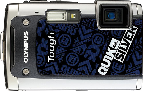 The Olympus TG-610 Quiksilver limited edition digital camera. Photo provided by Olympus Imaging Australia Pty Ltd. Click for a bigger picture!
