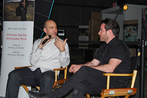 Hasselblad Master August Bradley interviewed by Resource Magazine at Three Stage Tour event in Los Angeles. Photo and caption provided by Hasselblad USA Inc. Click for a bigger picture!