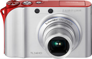 Samsung's TL34HD digital camera. Courtesy of Samsung, with modifications by Michael R. Tomkins. Click for a bigger picture!