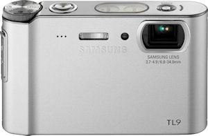 Samsung's TL9 digital camera. Courtesy of Samsung, with modifications by Michael R. Tomkins. Click for a bigger picture!