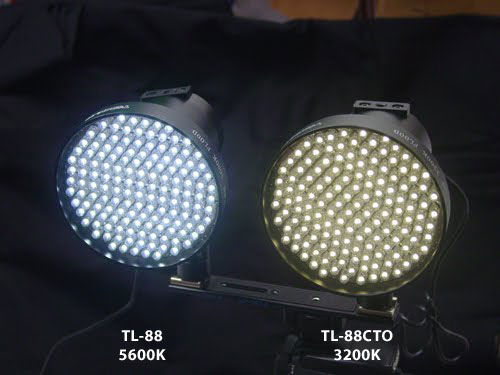 Switronix's new TL-88CTO Torch LED alongside the existing TL-88 model. Photo provided by Switronix.