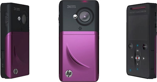 HP's V1020h flash camcorder offers 720p recording for around $110. Photo provided by Hewlett Packard Development Company L.P. Click for a bigger picture!
