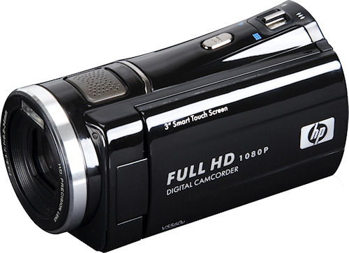 HP's V5560u flash camcorder has 1080p viideo and a 5x zoom for around $200. Photo provided by Hewlett Packard Development Company L.P. Click for a bigger picture!
