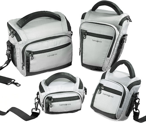 A variety of Samsonite Varadero series camera bags. Photo provided by Hama GmbH & Co KG. Click for a bigger picture!