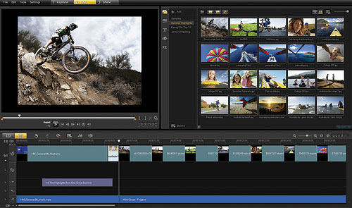 Corel's VideoStudio Pro X4, running in single-screen mode. Screenshot provided by Corel Corp. Click for a bigger picture!