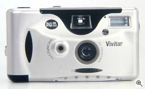 Vivitar's DIGI 35mm hybrid digital / film  camera, front view. Courtesy of Vivitar Corp. Click for a bigger picture!