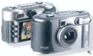 Vivitar's ViviCam 3655 digital camera, front  and rear views. Courtesy of Vivitar Corp. Click for a bigger picture!