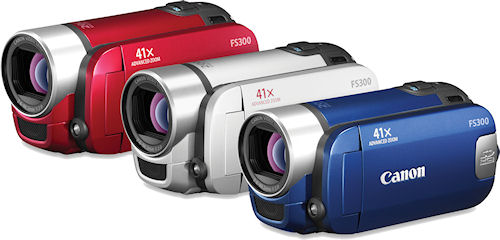 Canon's VIXIA FS300 camcorder. Photo provided by Canon. Click for a bigger picture!