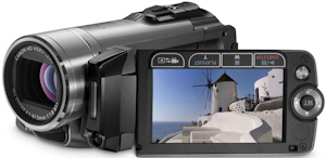 Canon's VIXIA HF200 flash memory camcorder. Photo provided by Canon U.S.A. Inc. Click for a bigger picture!