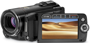 Canon's VIXIA HF20 flash memory camcorder. Photo provided by Canon U.S.A. Inc. Click for a bigger picture!
