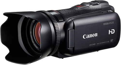 Canon's VIXIA HF G10 camcorder. Photo provided by Canon USA Inc. Click for a bigger picture!