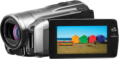 Canon's VIXIA HF M300 camcorder. Photo provided by Canon. Click for a bigger picture!
