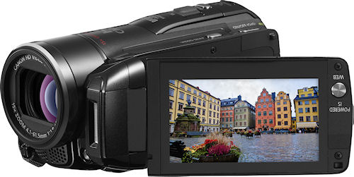 Canon's VIXIA HF M30 camcorder. Photo provided by Canon. Click for a bigger picture!