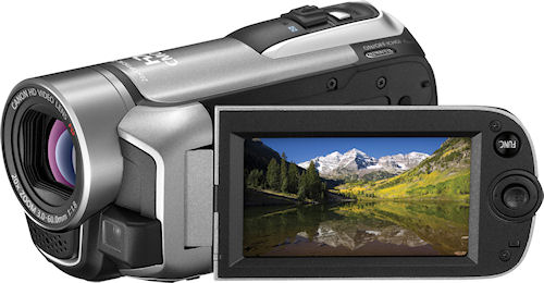 Canon's VIXIA HF R100 camcorder. Photo provided by Canon. Click for a bigger picture!