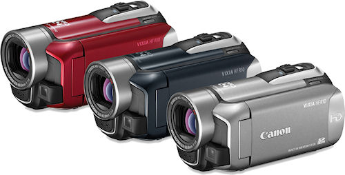 Canon's VIXIA HF R10 camcorder. Photo provided by Canon. Click for a bigger picture!