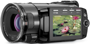 Canon's VIXIA HF S100 flash memory camcorder. Photo provided by Canon U.S.A. Inc. Click for a bigger picture!