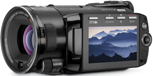 Canon's VIXIA HF S10 flash memory camcorder. Photo provided by Canon U.S.A. Inc. Click for a bigger picture!