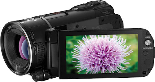 Canon's VIXIA HF S200 camcorder. Photo provided by Canon. Click for a bigger picture!