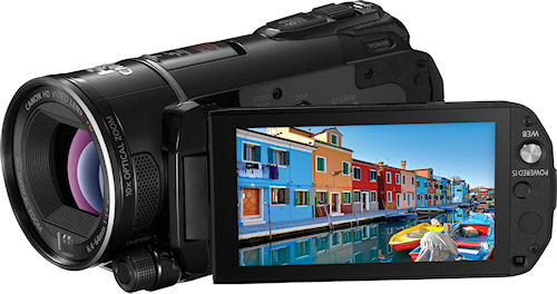 Canon's VIXIA HF S20 camcorder. Photo provided by Canon. Click for a bigger picture!