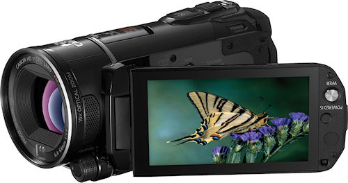 Canon's VIXIA HF S21 camcorder. Photo provided by Canon. Click for a bigger picture!
