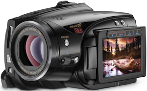 Canon's VIXIA HV40 HDV camcorder. Photo provided by Canon U.S.A. Inc. Click for a bigger picture!