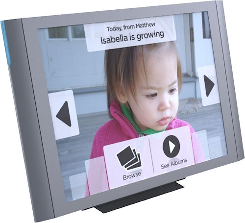 Isabella Products' Vizit digital picture frame. Photo provided by Isabella Products Inc. Click for a bigger picture!