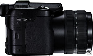 Leica's V-LUX 1 digital camera. Courtesy of Leica, with modifications by Michael R. Tomkins. Click for a bigger picture!