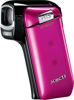 Sanyo VPC-CG10, hot pink body color. Photo provided by Sanyo Canada Inc. Click for a bigger picture!