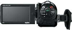 Sanyo VPC-FH1, rear view. Photo provided by Sanyo Canada Inc. Click for a bigger picture!