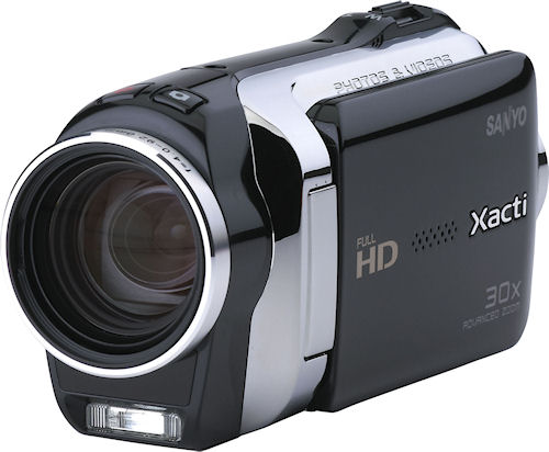 Sanyo's Xacti VPC-SH1 dual camera offers HD video and four megapixel still imaging. Photo provided by Sanyo North America Corp. Click for a bigger picture!