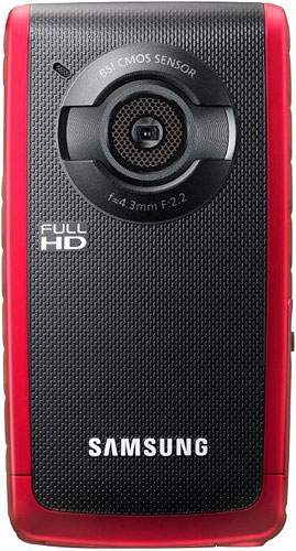 Samsung's HMX-W200 Pocket Cam. Photo provided by Samsung Electronics Co. Ltd. Click for a bigger picture!