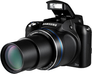 Samsung's WB5500 digital camera. Photo provided by Samsung Electronics GmbH. Click for a bigger picture!