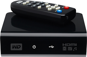 Western Digital's TV HD Media Player. Courtesy of Western Digital, with modifications by Michael R. Tomkins. Click for a bigger picture!