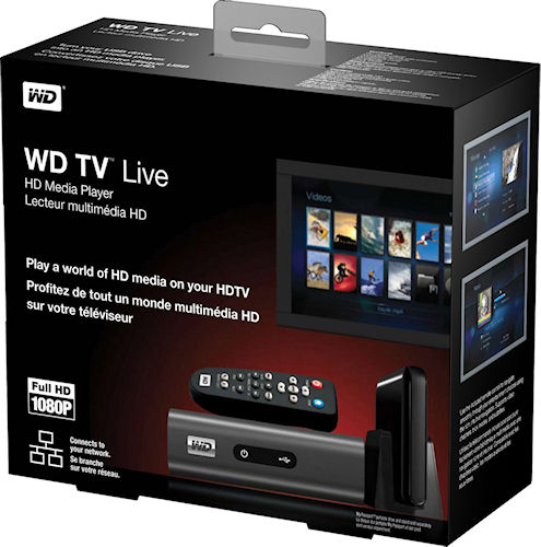 WD's TV Live HD Media Player product packaging. Photo provided by Western Digital Corp. Click for a bigger picture!