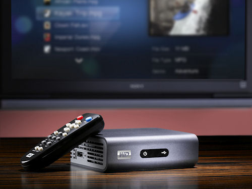 WD's TV Live HD Media Player in use. Photo provided by Western Digital Corp. Click for a bigger picture!