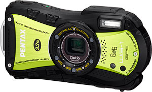 Pentax's Optio WG-1 GPS digital camera. Photo provided by Pentax Imaging Co. Click for a bigger picture!