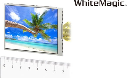 "The ""WhiteMagic™"" LCD module featuring the newly-developed 'RGBW method. Photo and caption provided by Sony Corp. Click for a bigger picture!"