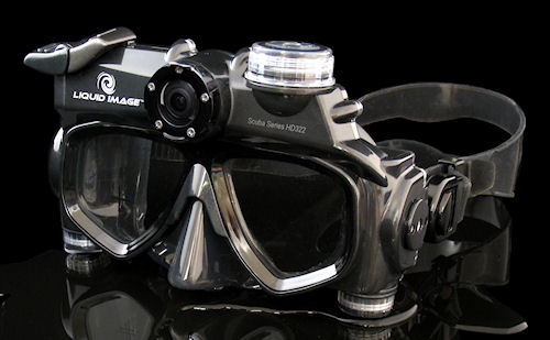 The Wide Angle Scuba-series HD322 mask. Photo provided by Liquid Image Co. LLC. Click for a bigger picture!